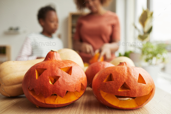 Preparing Pumpkins For Halloween - Stock Photo - Images