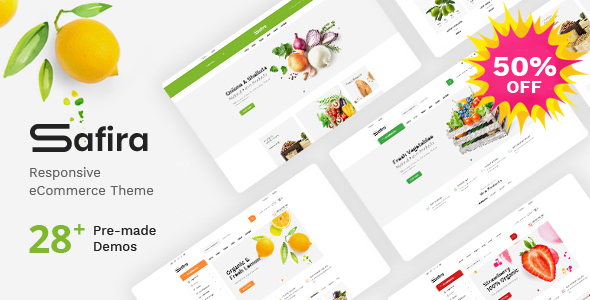 Safira – Food & Organic WooCommerce WordPress Theme