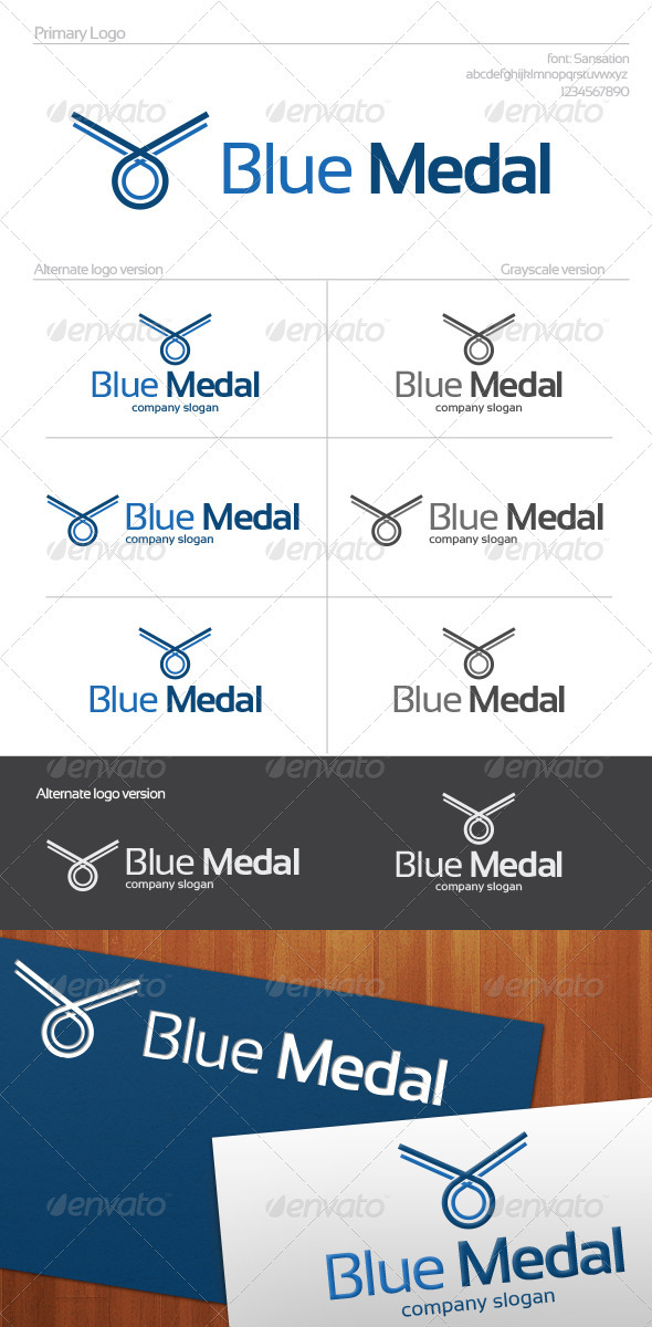 Blue Medal Logo - Objects Logo Templates