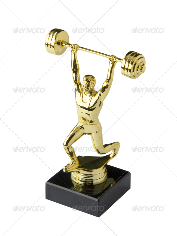 Weightlifting trophy - Stock Photo - Images
