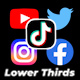 Social Media Lower Thirds - VideoHive Item for Sale