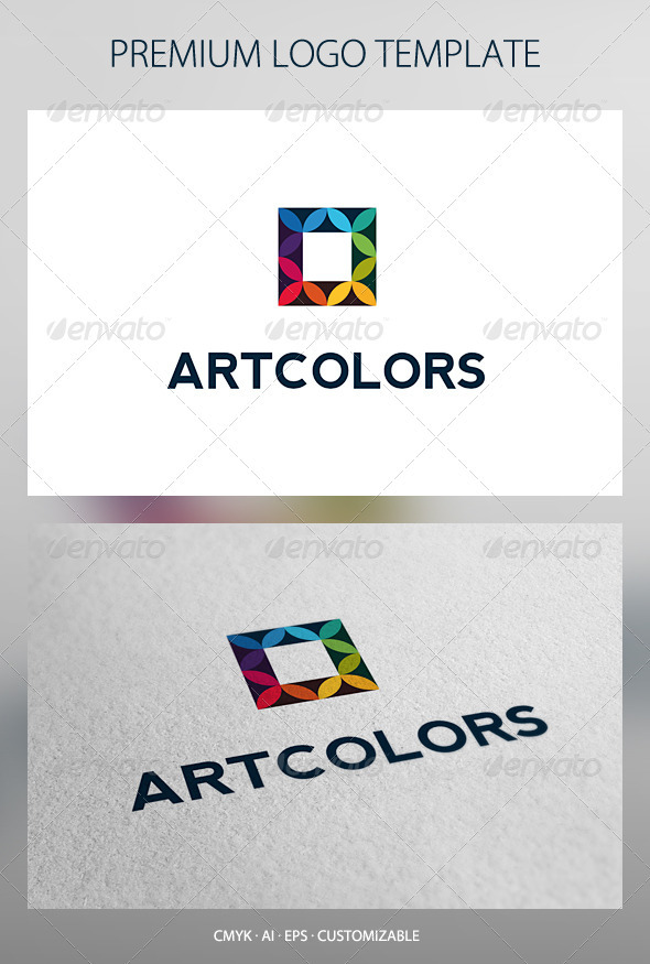 Art Colors Logo Template - Abstract Logo Templates
