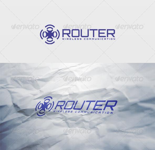 Router Logo - Vector Abstract