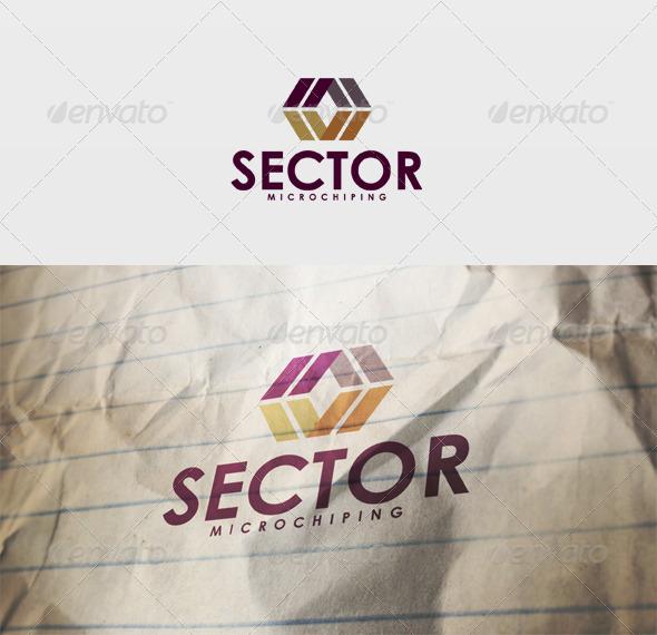 Sector Logo - Vector Abstract