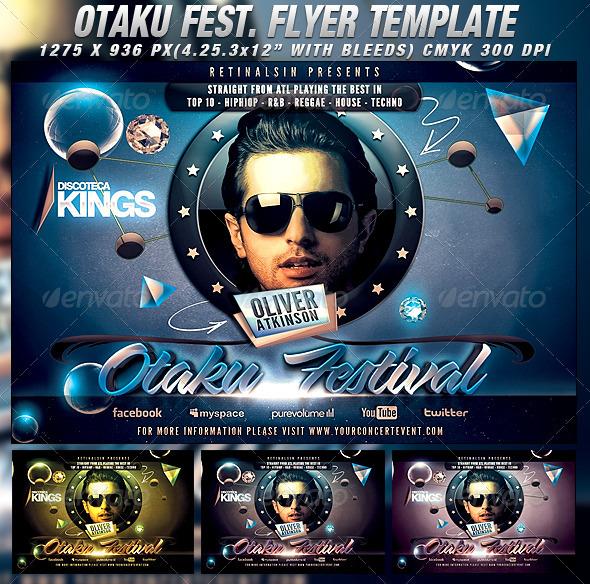 Otaku Festival Flyer Template - Events Flyers