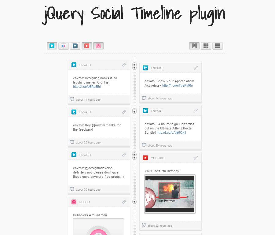 Wordpress Social Timeline