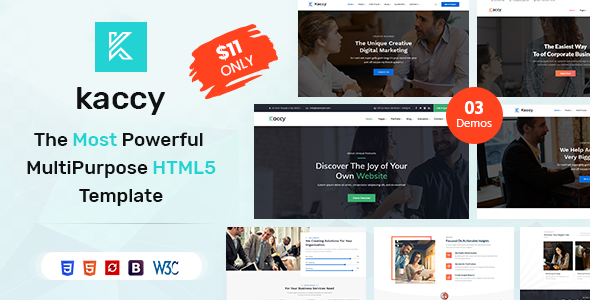 kaccy - Services Multi HTML Template