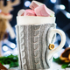 Christmas Setting with Hot Chocolate in a Fancy Sweater Mug - PhotoDune Item for Sale