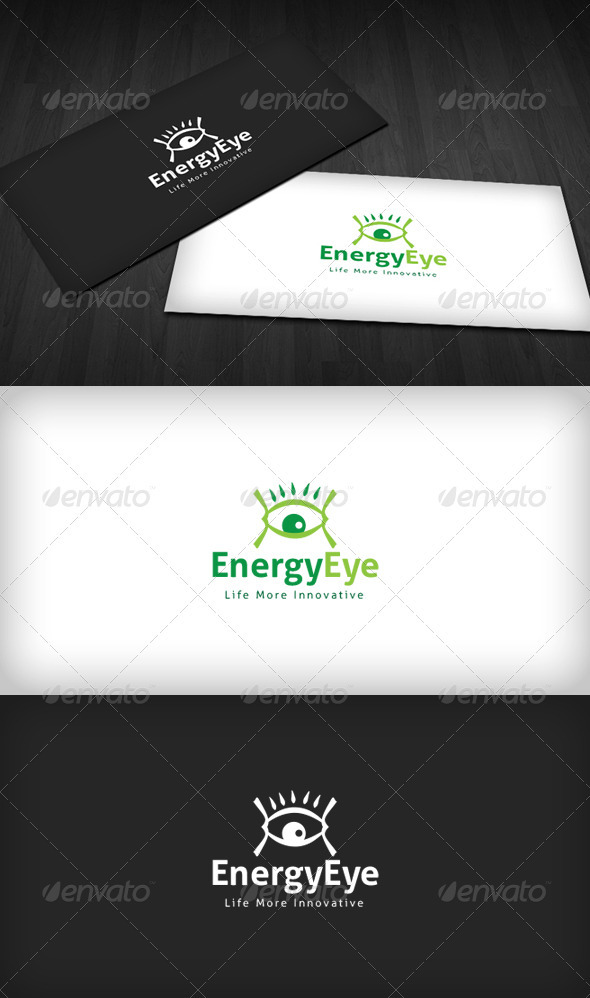 Energy Eye Logo - Vector Abstract