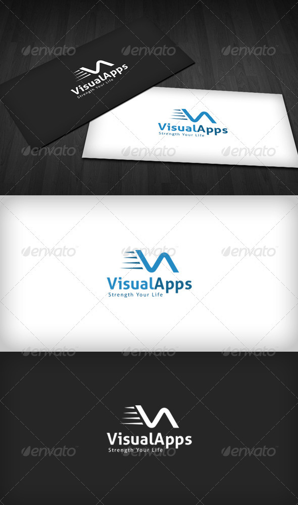 Visual Apps Logo - Letters Logo Templates