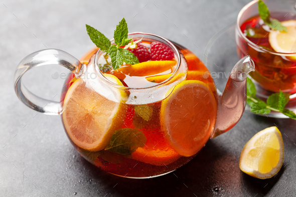 Traditional fruit tea - Stock Photo - Images