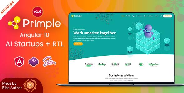 Primple - Angular 10 AI Startups Template