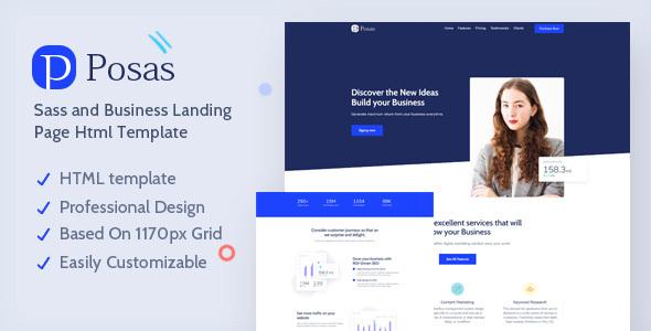 Posas – Saas Software Landing Page Template