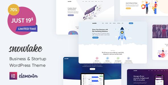 Snowlake – Creative Business & Startup WordPress Theme