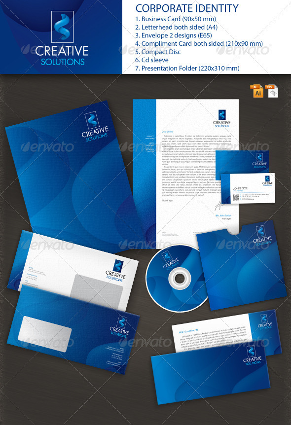 Solutions Corporate Identity - Stationery Print Templates