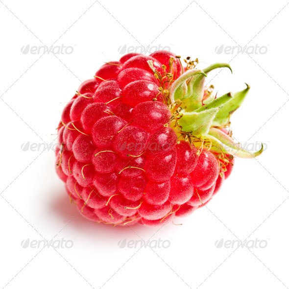 tasty raspberry fruit - Stock Photo - Images