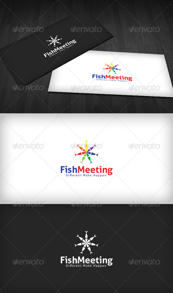 Fish Meeting Logo - Animals Logo Templates