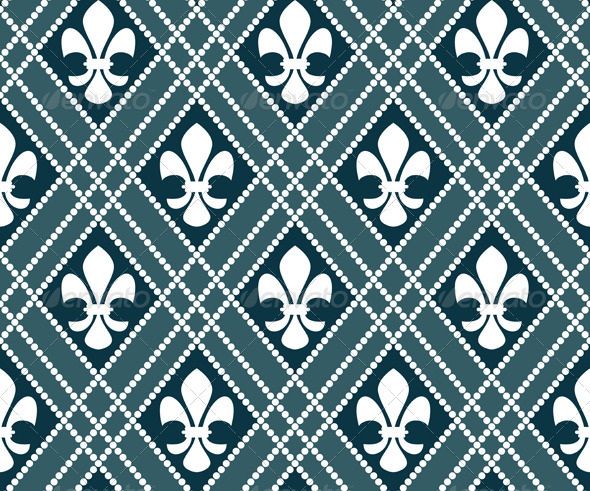 Fleur de lis seamless pattern - Patterns Decorative