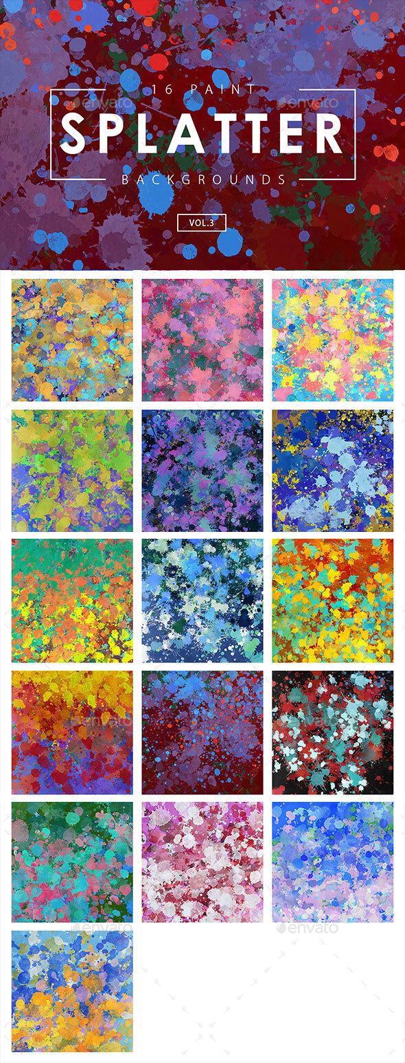 Paint Splatter Backgrounds 3