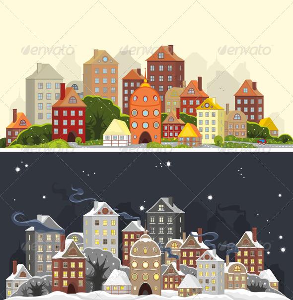 Town Season - Conceptual Vectors
