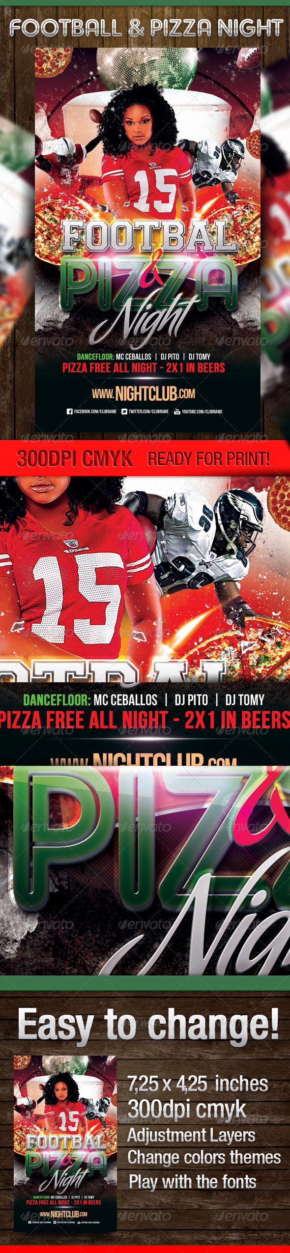 Football & Pizza Nights Party - Clubs & Parties Events