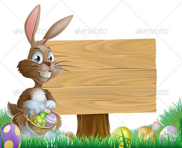Easter Background Sign By Krisdog