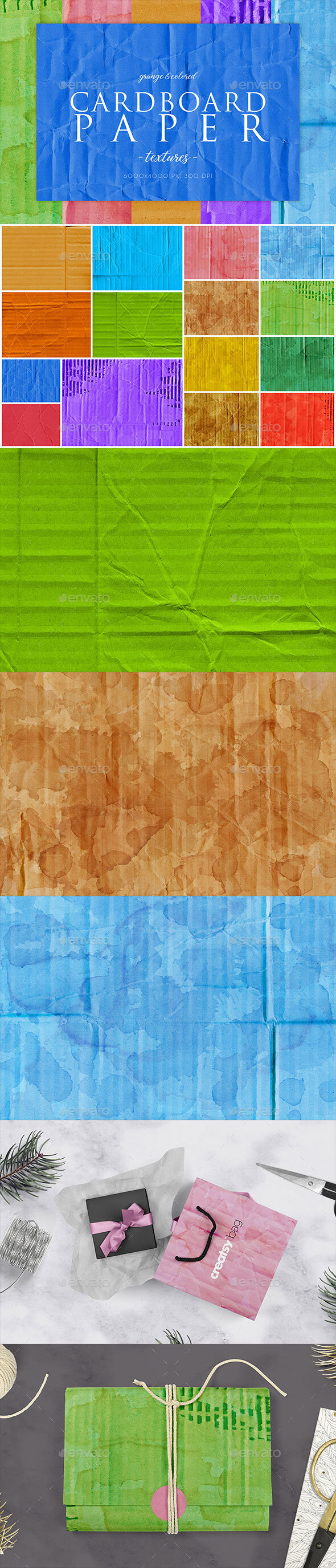 15 Colorful Cardboard Paper Textures 1