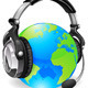 Download Vector Help desk headset world globe