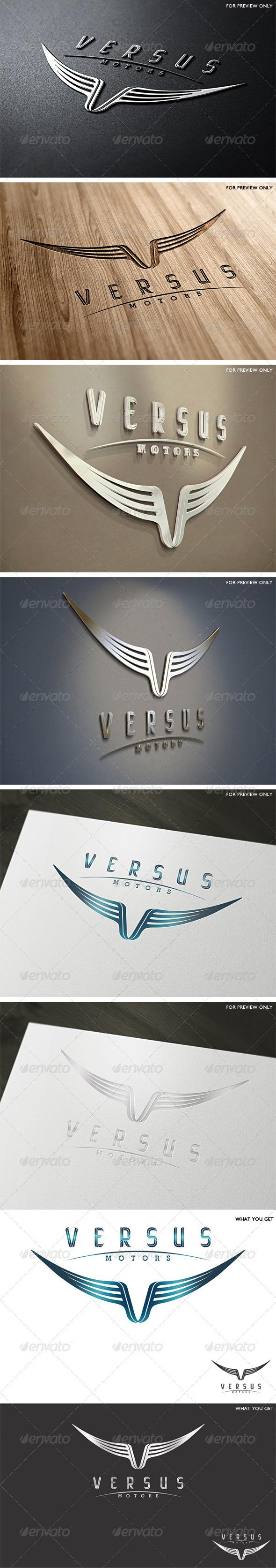 Versus Motors Logo Template - Letters Logo Templates