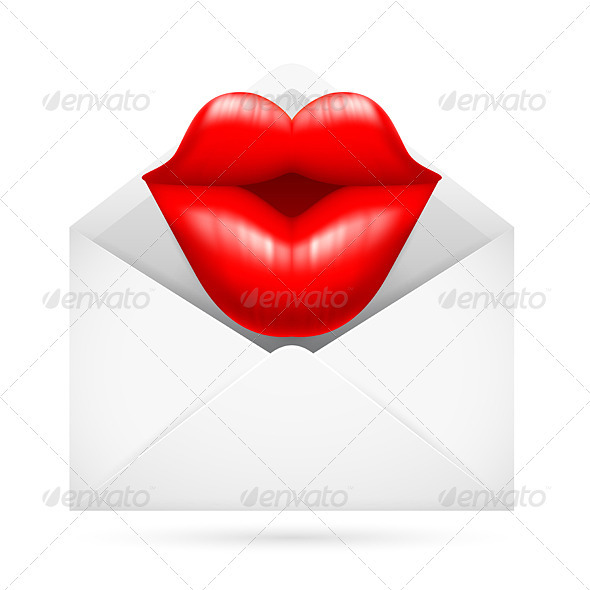 Post Envelope with Kiss - Communications Technology
