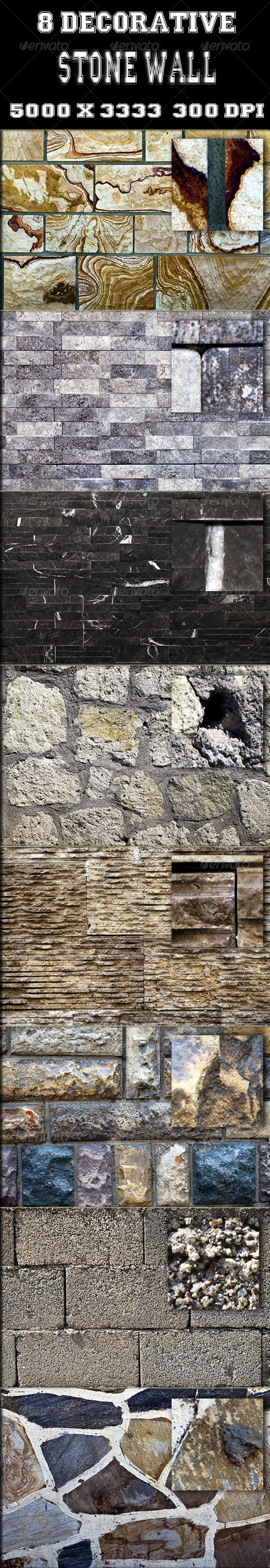 8 Decorative Stone Wall Texture - Stone Textures