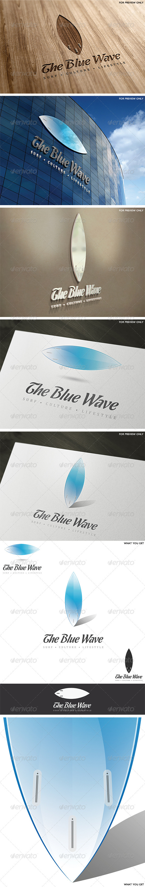 The Blue Wave Logo Template - Objects Logo Templates