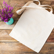 Rustic tote bag mockup with purple flowers - PhotoDune Item for Sale