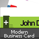 3 Color & Colorable Modern Business Card - GraphicRiver Item for Sale