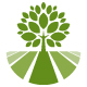Tree Field Landscape Logo