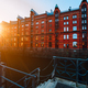 A red brick multi-storey houses of Speicherstadt Hamburg. Famous landmark of old red brick buildings - PhotoDune Item for Sale
