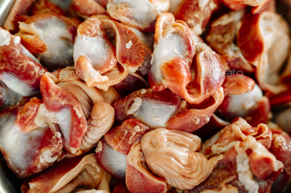 Red meat, gizzard - Stock Photo - Images