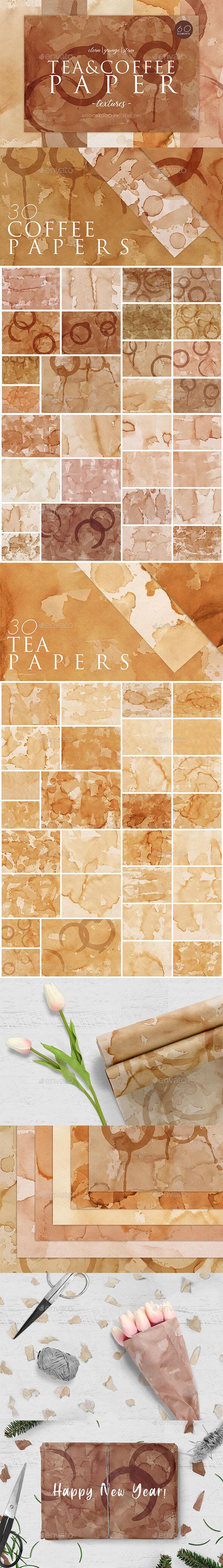 60 Tea&Coffee Stain Textures