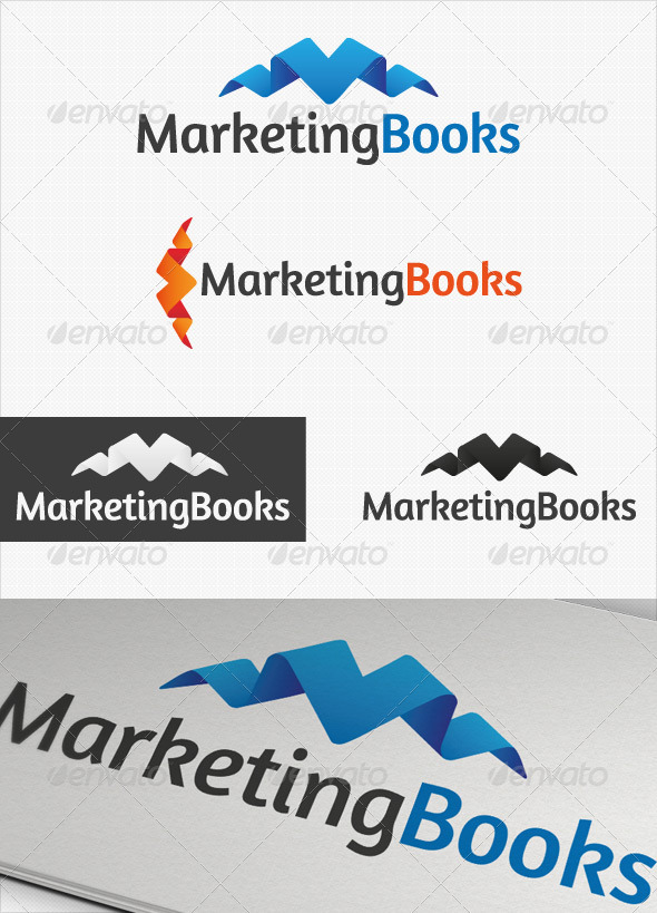 Marketing Books Business logo - Symbols Logo Templates
