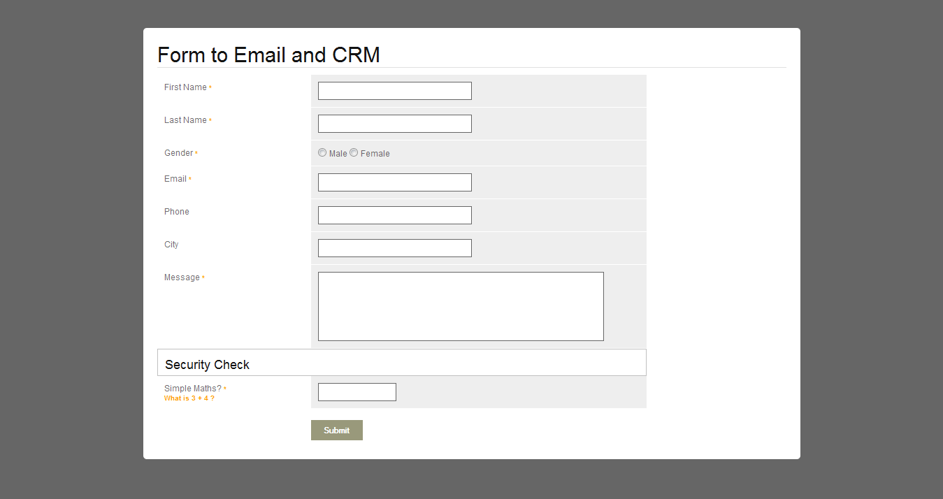 Contact Form to Email and CRM - PHP by pluginpunch | CodeCanyon