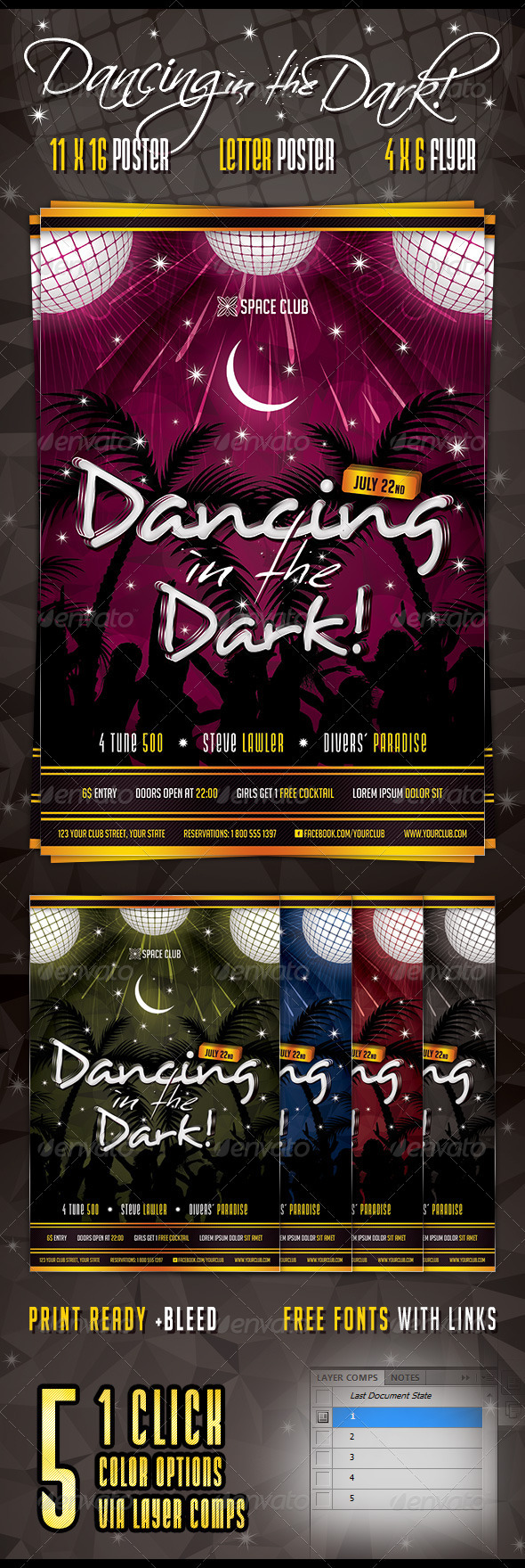 Dancing in the Dark Poster & Flyer - Clubs & Parties Events