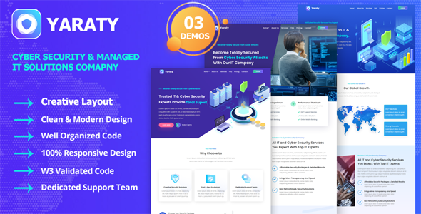 Excellent Yaraty - Cyber Security & Managed IT Services Template