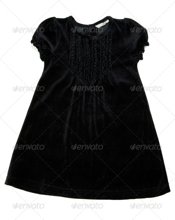 Black children's dress - Stock Photo - Images