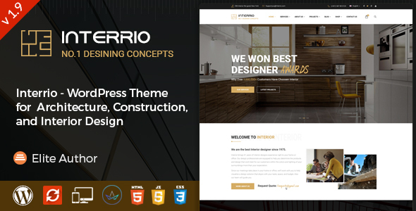 Interrio – WordPress Theme for Architecture and Interior Design