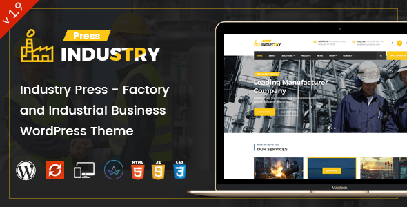 Industry Press - Factory and Industrial Business WordPress Theme