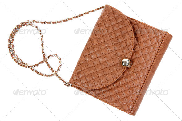 The brown woman's handbag - Stock Photo - Images