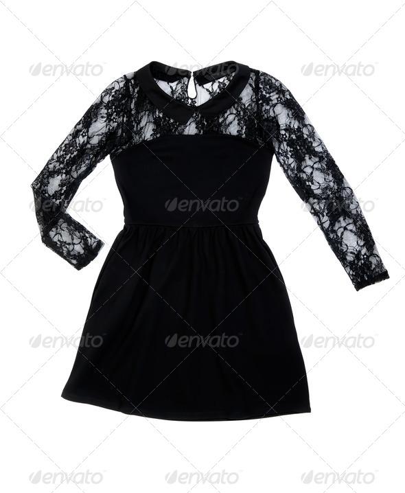 Black women's fashion dress - Stock Photo - Images