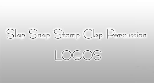 Slap Snap Stomp Clap Percussion Logos