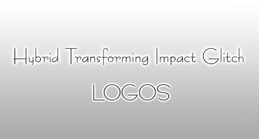 Hybrid Transforming Impact Glitch Logos