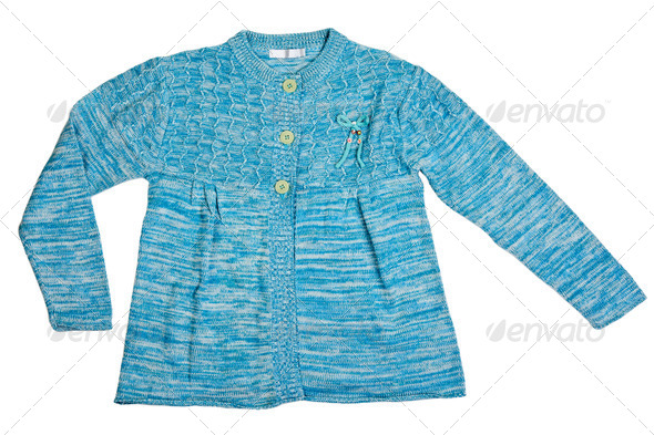 knitted blue sweater - Stock Photo - Images